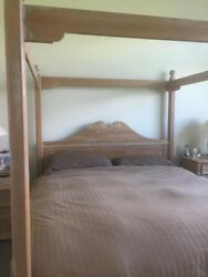 Lexington American Country West Colorado Pt Canopy Queen Bed Solid Oak Made Usa