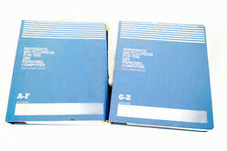 Vintage Reference Encyclopedia For The Ibm Personal Computer 2 Volumes A-f, G-z