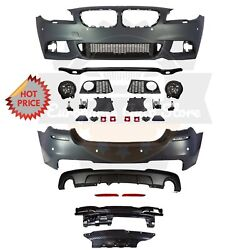 Bmw F10 Msport Style Front And Rear Performance Bumper For 11-13 Bmw F10 535 Pdc
