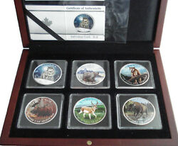 2011 To 2013 5 And039and039canada Wildlife Seriesand039and039 6 X 1oz Silver Coin Collection