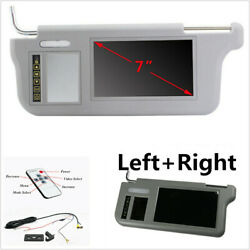 Pair Sunvisor Rear View Mirror Screen Lcd Monitor For Dvd/vcd/gps/tvtouch Button