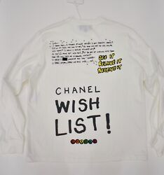 Chanel X Pharrell Capsule Collection White Long Sleeve Graffiti Tee Shirt RARE M