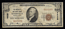 Rare Reedsville Pa Charter 4538 12 Small Notes Reported Series1929 10.00