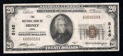 Sidney Iowa Ch 5145192920.0013 Reported Low Serial One Bank Town