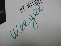 Weegee Naked City. Signed. 1st Edition.1st Printing.1945. Essential Books.rare