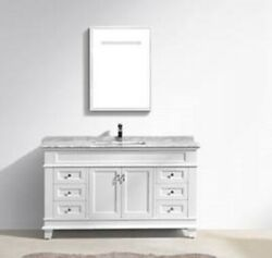 48″ Classic Single Sink Vanity Solid Wood In White Color