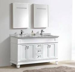 72″ Classic Double Sink Vanity Solid Wood In White Color