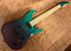 dragonfly d-fly STL648 L.ASH Trans Blue To Purple Electric Guitar Free Shipping
