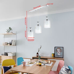 E27 Modern Iron Pendant Ceiling Hanging Lamp Chandelier Kitchen Dining Room Ligh