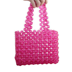 colorful handbags women bags pearl bag crystal shiny beaded clutches evening bag $57.13