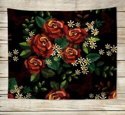 rose flower wall hanging tapestry window tapestry