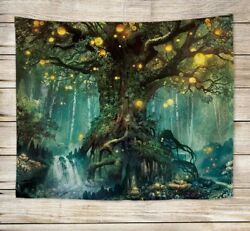 fantasy forest wall hanging tapestry wall hanging decor