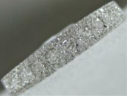 Modern Pave Diamond Right Hand Ring 18k White Gold Wedding Cluster Band Rg9489wd