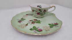 Vintage Lefton China 2759b Collectors Luncheon Dessert Plate And Cup Set Euc