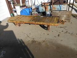 Large Railroad Cart Vintage Warehouse Cast Iron Huge Casters Industrial Table