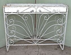 Mid Century Scrolled Wrought Iron Planter With Tin Liner