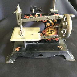 Antique Toy Sewing Machine Ornate Type 47