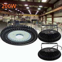3X 200W UFO LED High Bay Light Warehouse Factory Commercial Shed Gym Fixture