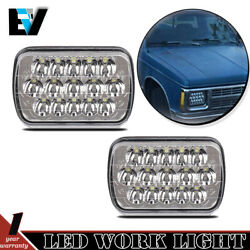 Rectangle Sealed Beam Headlamps Headlights Pair Set of 2 for Chevy Pickup Trucks