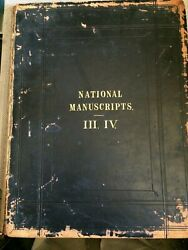 NATIONAL MANUSCRIPTS of Queens Mary and Elizabeth 1 vol 3. ed by H JAMES 1867