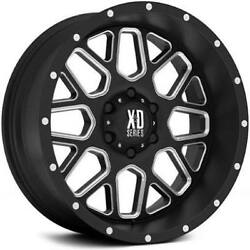 20x10 XD820 Grenade Wheels Black Milled Rims 33