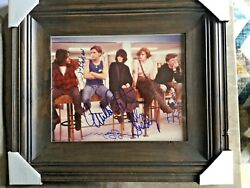 BREAKFAST CLUB CAST AUTO PERIOD PIC: NELSON ESTEVEZ RINGWALD HALL SHEEDY PSA