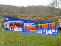 Vintage And Rare 1995 Sunoco Aerial Ladder Firetruckstoredisplay And Truck