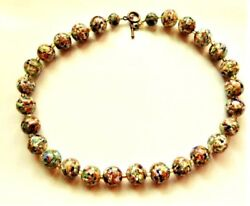 Gorgeous Vintage Murano Colorful Confetti And Copper Flakes 14mm Glass Beads 18