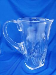 Lalique Signed Crystal Water Pitcher
