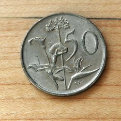 1989 South Africa 50 Cents African Lily