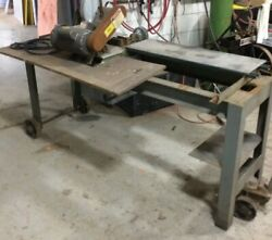 Do All Metal Cutoff Saw On Rolling Work Table - Used - Working