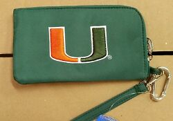 Miami Hurricanes Id Wallet Wristlet Cell Phone Case Charm 14 Purse