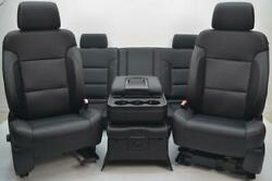 2015 - 2018 CHEVY SILVERADO GMC SIERRA FRONT REAR HEATED LEATHER SEATS