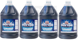4 Gallon Case Carnival King Blue Raspberry Snow Cone Crushed Ice Machine Syrup