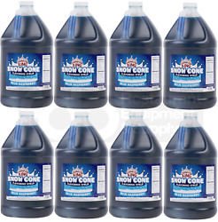 8 Gallon Case Carnival King Blue Raspberry Snow Cone Crushed Ice Machine Syrup