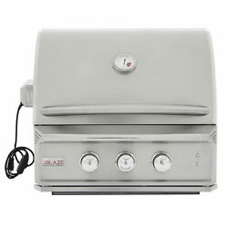 Blaze Professional 27-Inch 2 Burner Built-In Gas Grill With Rear Burner-NG or LP