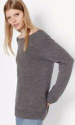 Nwt Equipment Cody Boat Neck Wool And Cashmere Sweater Heather Grey Xs, S 298