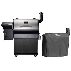 Z Grills Zpg-700e Wood Pellet Grill Bbq Smoker Digital Control With Cover