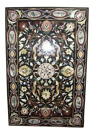 6' x 3' Rare Marble Inlay Marquetry Art Dining Table Top Home Decor Furniture