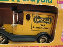 Crayola Collectible Truck Die Cast 1903 Antique Car Bank Limited Edition Crayons
