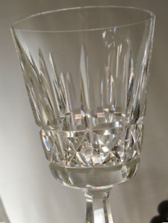 Waterford Crystal 8 Kylemore Claret Wine Glasses Cut Signed Base 6 Inch Tall