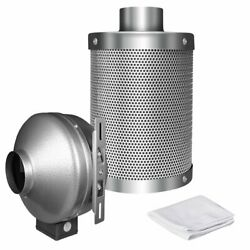 iPower 4 Inch 190 CFM Duct Inline Fan with 4 Inch Carbon Filter for Grow Tent Ve