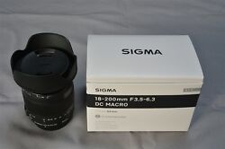 New Sigma 18-200mm F3.5-6.3 Dc Macro Os Hsm Contempory For Canon Aps-c Only