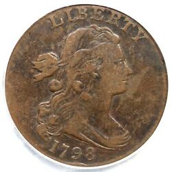 1798 S-169 R-3 Pcgs Vf 25 2nd Hair Draped Bust Large Cent Coin 1c