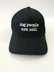 Dog People Are Cool Baseball Cap Hat Black One Size Adjustable