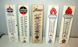 5 Different Standard Oil Advertising Thermometers Fuel Oil Lp American Heating