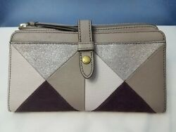 Fossil Fiona Clutch Champagne Leather Clutch Wallet MSRP $75 NWT $24.99