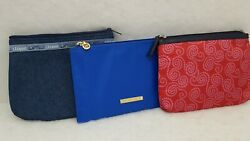 Lot of Three Liz Claiborne Designer Cosmetic  Accessory Travel Storage Bags