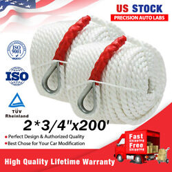 2 3/4x200and039 Twisted Three Strand Nylon Anchor Mooring Rope Boat Line Climbing