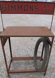 Antique Keen Kutter Tire Rack General Store Display Ec Simmons Co St. Louis Mo